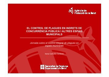 El control de plagues en l'àmbit municipal