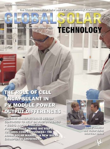 The role of cell encaPSulanT In PV Module Power ouTPuT dIfferenceS