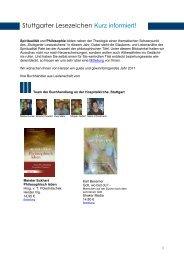 Stuttgarter Lesezeichen Kurz informiert! - Buchhandlung an der ...