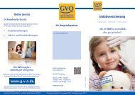 Unfallversicherung - GVO Versicherung
