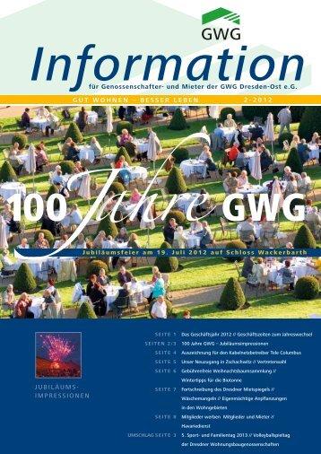 Lesen Sie das Heft als Download - GWG Dresden-Ost eG
