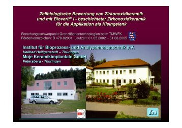 Zellbiologie Biokeramik Dr. Gerhard - G.-Wiehebrink