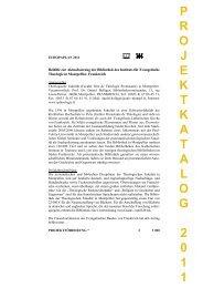 Projektbeschreibung 2011 - Gustav-Adolf-Werk eV