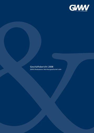 Geschäftsbericht 2008 - GWW Wiesbadener Wohnbaugesellschaft ...