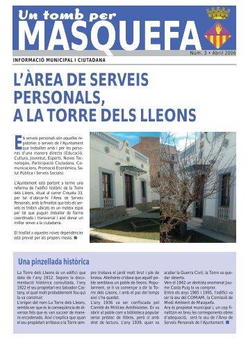 Num. 03 - abril 2006 - Un tomb per Masquefa - Ajuntament de ...