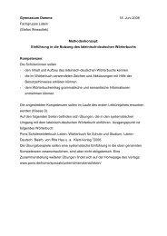 Latein - Deutsch - Gymnasium Damme