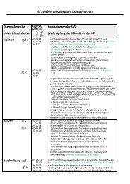 4. Stoffverteilungsplan, Kompetenzen - Gymnasium Damme