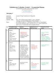 Kerncurriculum Latein - Gymnasium Damme