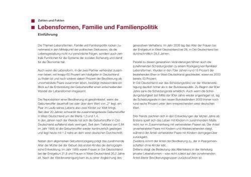 Lebensformen, Familie und Familienpolitik - Gymnasium Damme