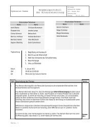 Protokoll Elternrat 06.01.11 - Gymnasium Damme