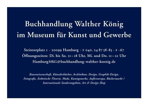 Buchhandlung Walther König im Museum für Kunst und Gewerbe
