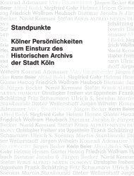 Ulrich S. Soénius Martin Stankowski - Buchhandlung Walther König