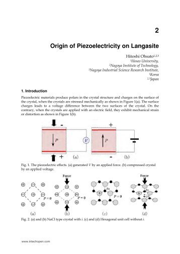 2 Origin of Piezoelectricity on Langasite - cdn - InTech