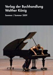 Verlag der Buchhandlung Walther König Sommer / Summer 2009