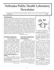 summerfall 1998 - the Nebraska Public Health Laboratory