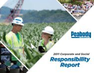 2011 Corporate and Social Responsibility Report - Peabody Energy