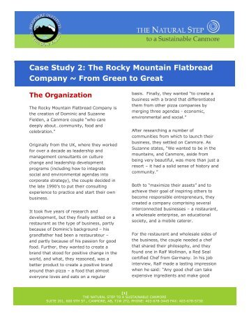 rocky mountain case analysis Rocky mountain chocolate factory case solution, rocky mountain chocolate maintain business in united states, japan, canada and uae the company was first established in 1981.