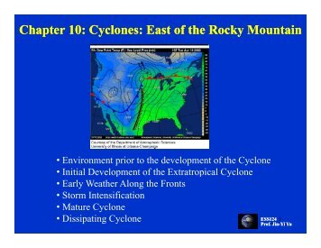 Chapter 10: Cyclones: East of the Rocky Mountain