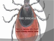 tickborne diseases Lyme disease Rocky Mountain Spotted Fever ...