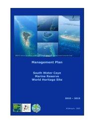 Management Plan - Glover's Reef Marine Reserve