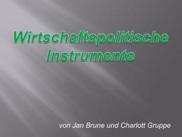 Wirtschaftspolitische Instrumente