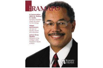 A Conversation With Dr. Rodney D. Smith - Ramapo College of New ...
