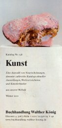 Kunst - Buchhandlung Walther König