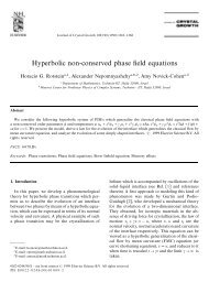 Hyperbolic non-conserved phase field equations