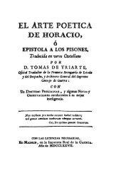 El arte poética, Horacio, traducción de Tomas de ... - Historia Antigua