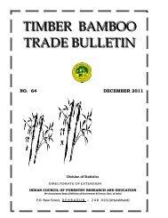Timber Bamboo Trade Bulletin, Vol.64, ICFRE, Dehra