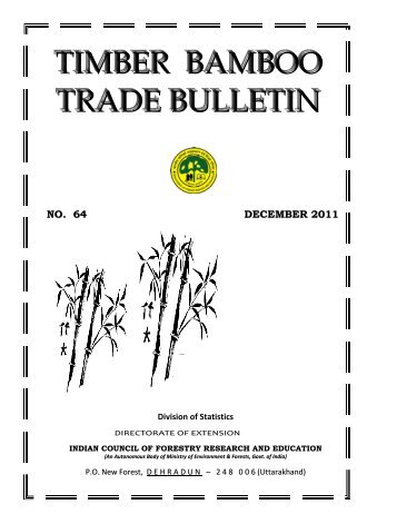 Timber Bamboo Trade Bulletin, Vol.64, ICFRE, Dehra