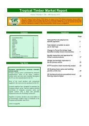 ITTO Tropical Timber Market Report - 16. - Life Forestry Group