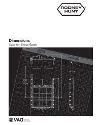 Sluice Gate Dimensions - Rodney Hunt Company