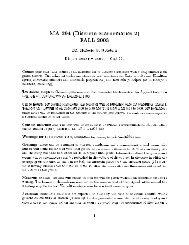 MA 294 (Discrete Mathematics 2) FALL 2003 Dr. Horacio G. Rotstein ...