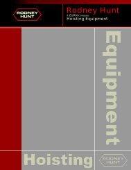 Hoisting Equipment - Rodney Hunt Company
