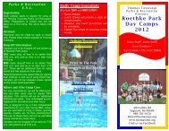 Roethke Park Day Camps 2012 - Thomas Township