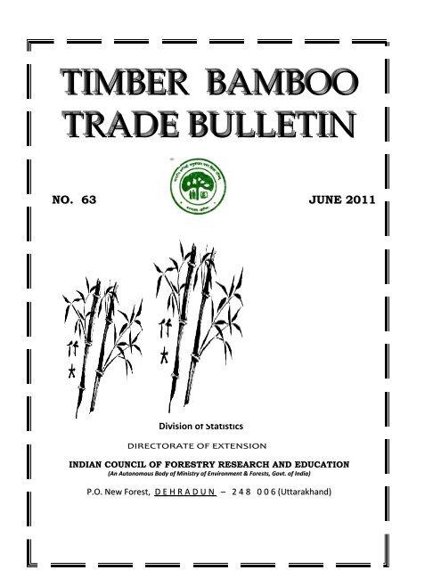 Timber Bamboo Trade Bulletin, Vol.63, ICFRE, Dehra