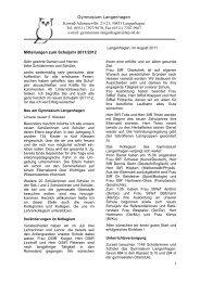Elternbrief August 2011 - Gymnasium Langenhagen