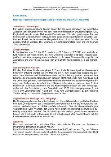 zusammenfassung vom mai 2011 gymnasium lilienthal - Zusammenfassung English