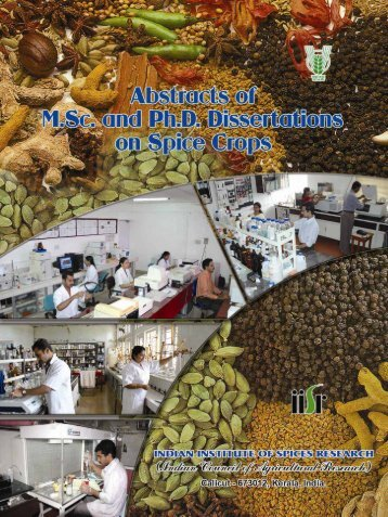 Untitled - Indian Institute of Spices Research