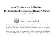 Alter Wein in neuen Schläuchen - Die Instabilitätshypothese von ...