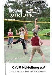 Christlicher - Verein - Junger - Menschen Inhalt - CVJM Heidelberg ev