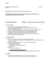 Schulcurriculum Sek II - Lise-Meitner-Gymnasium