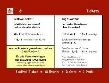 8 Tickets 8 Tickets - das freie buch
