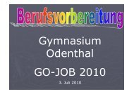 Evaluation GOJOB 2010.pdf - Gymnasium Odenthal