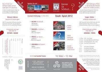 Stadt - Spiel 2012 Lesung & Verlosung - das freie buch