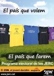 Programa electoral (Parlament de Catalunya 2012) - On som - JERC