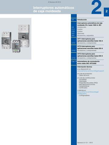 Interruptores automáticos de caja moldeada