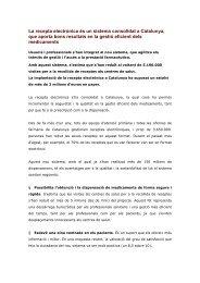 La recepta electrònica és un sistema consolidat a Catalunya, que ...