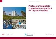 Hospital Universitari de Bellvitge Protocol d'analgèsia